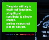 The global military is fossil fuel dependent, a significant contributor to climate change, and has no practical plan for net zero.