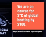We are on course for 3°C of global heating by 2100.