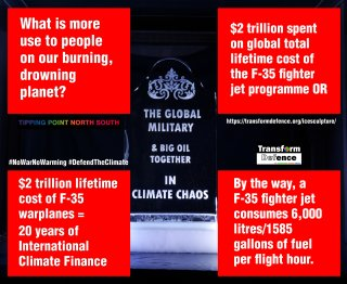 $2 trillion lifetime cost of F-35 warplanes =20 years of International Climate Finance