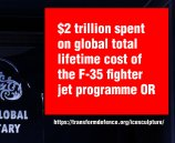 $2 trillion spent on global total lifetime cost of the F-35 fighter jet programme OR